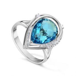 Кольцо с бриллиантами и топазами из белого золота VALTERA 53991