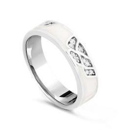 Кольцо с фианитами и эмалью из серебра VALTERA 79456