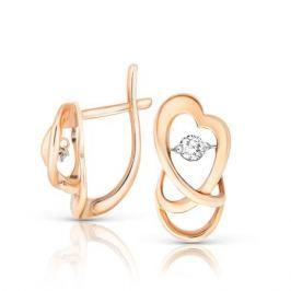 Серьги с бриллиантами из розового золота VALTERA 90793