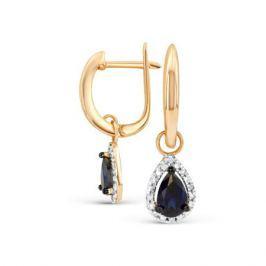 Серьги с сапфирами и бриллиантами из розового золота VALTERA 90606
