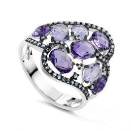 Кольцо с аметистами и бриллиантами из белого золота VALTERA 63731
