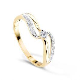 Кольцо с бриллиантами из желтого золота VALTERA 70444