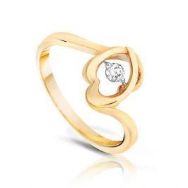 Кольцо с бриллиантами из розового золота VALTERA 90229
