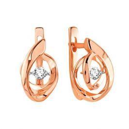 Серьги с бриллиантами из розового золота VALTERA 90794