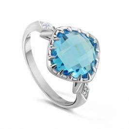 Кольцо с бриллиантами и топазами из белого золота VALTERA 50940