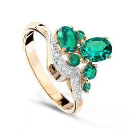 Кольцо с изумрудами и бриллиантами из розового золота VALTERA 51925
