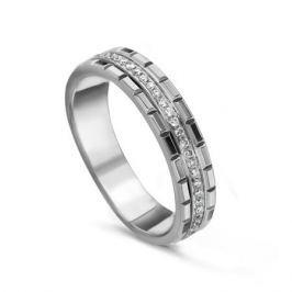 Кольцо с бриллиантами из белого золота VALTERA 54687