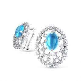 Серьги с топазами и бриллиантами из белого золота VALTERA 47141