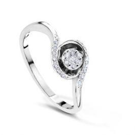Кольцо с бриллиантами из белого золота VALTERA 54078
