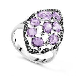 Кольцо с аметистами и бриллиантами из белого золота VALTERA 66568