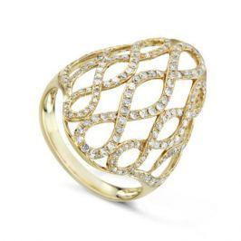 Кольцо с бриллиантами из желтого золота VALTERA 73926