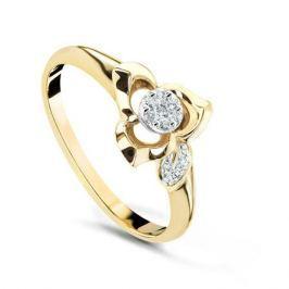 Кольцо с бриллиантами из желтого золота VALTERA 53950