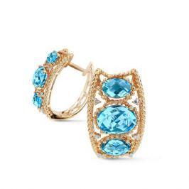 Серьги с топазами и бриллиантами из желтого золота VALTERA 62503