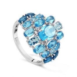 Кольцо с полудрагоценными камнями из белого золота VALTERA 53000