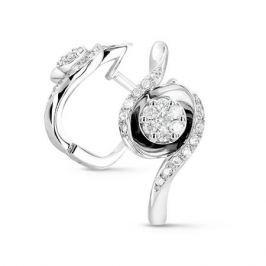 Серьги с бриллиантами из белого золота VALTERA 54075