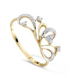 Кольцо с бриллиантами из желтого золота VALTERA 72419
