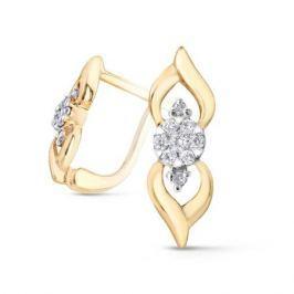 Серьги с бриллиантами из желтого золота VALTERA 52570