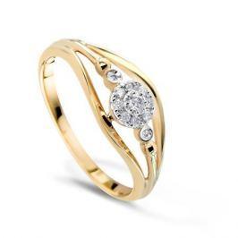 Кольцо с бриллиантами из розового золота VALTERA 49577