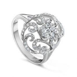 Кольцо с бриллиантами из белого золота VALTERA 57640