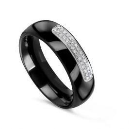 Кольцо с керамикой и бриллиантами из белого золота VALTERA 79184