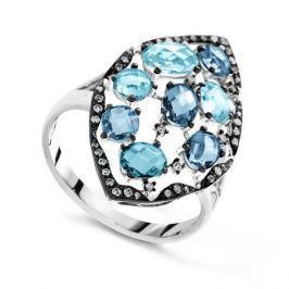 Кольцо с бриллиантами и топазами из белого золота VALTERA 65437
