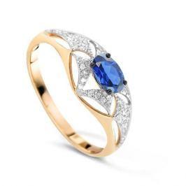 Кольцо с сапфирами и бриллиантами из розового золота VALTERA 78055