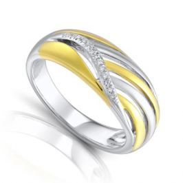 Кольцо с бриллиантами из серебра VALTERA 84567