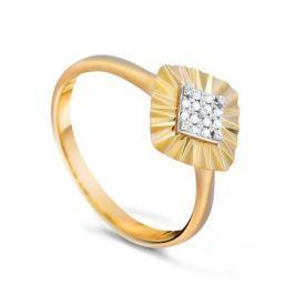 Кольцо с бриллиантами из желтого золота VALTERA 83385