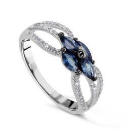 Кольцо с сапфирами и бриллиантами из белого золота VALTERA 61433