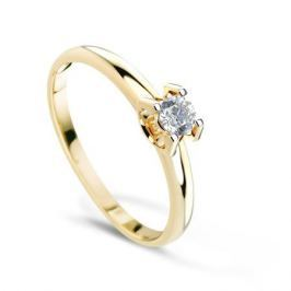 Кольцо с бриллиантами из желтого золота VALTERA 69945