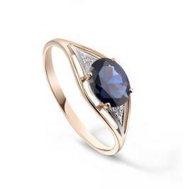 Кольцо с сапфирами и бриллиантами из розового золота VALTERA 92642