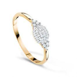 Кольцо с бриллиантами из розового золота VALTERA 57845