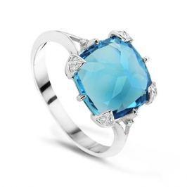 Кольцо с бриллиантами и топазами из белого золота VALTERA 55706