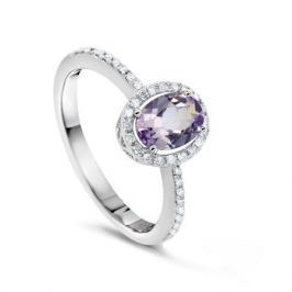 Кольцо с аметистами и бриллиантами из белого золота VALTERA 54727