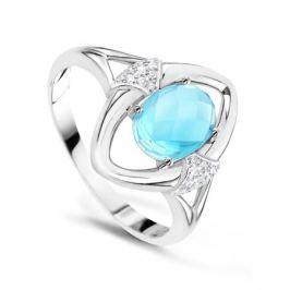 Кольцо с бриллиантами и топазами из белого золота VALTERA 62585