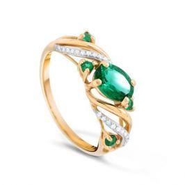Кольцо с изумрудами и бриллиантами из желтого золота VALTERA 90066