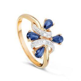 Кольцо с сапфирами и бриллиантами из розового золота VALTERA 15956