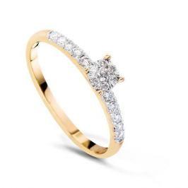 Кольцо с бриллиантами из желтого золота VALTERA 53440