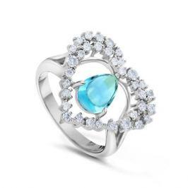 Кольцо с бриллиантами и топазами из белого золота VALTERA 47271
