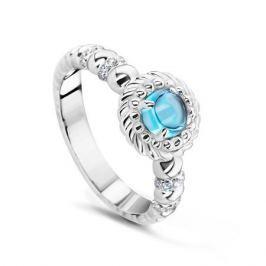 Кольцо с бриллиантами и топазами из белого золота VALTERA 53895