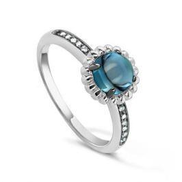 Кольцо с бриллиантами и топазами из белого золота VALTERA 53851