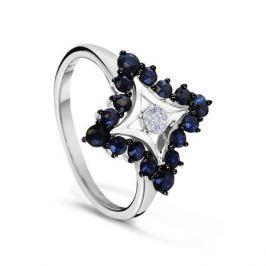 Кольцо с сапфирами и бриллиантами из белого золота VALTERA 54767