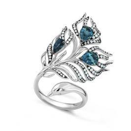 Кольцо с бриллиантами и топазами из белого золота VALTERA 42043