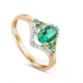 Кольцо с изумрудами и бриллиантами из розового золота VALTERA 50665