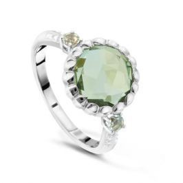 Кольцо с аметистами и бриллиантами из белого золота VALTERA 48038