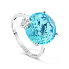 Кольцо с бриллиантами и топазами из белого золота VALTERA 49279
