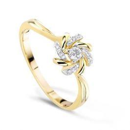 Кольцо с бриллиантами из розового золота VALTERA 54781