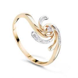 Кольцо с бриллиантами из розового золота VALTERA 56937