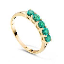 Кольцо с изумрудами из розового золота VALTERA 55657