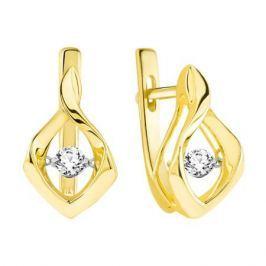 Серьги с бриллиантами из желтого золота VALTERA 90226
